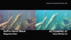 Vergleich der Actionpro X7 | GoPro Hero3 Black