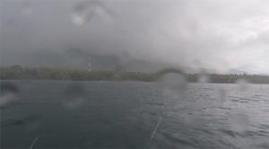 Küste Balis bei Regen